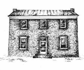 Drawing of the Bland County Jail